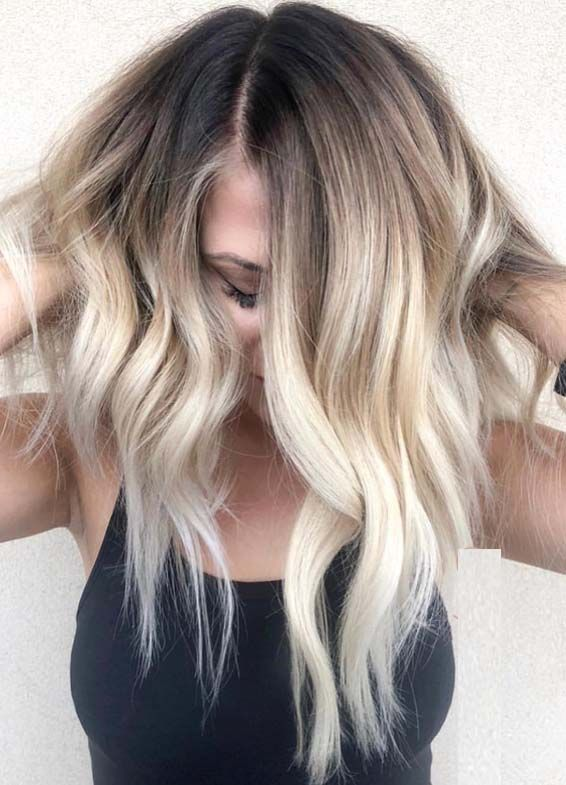 Absolutely Gorgeous Blonde Balayage Hair Color Trends For 2018 With Images Short Ombre Hair Cool Blonde Hair Blonde Ombre Short Hair