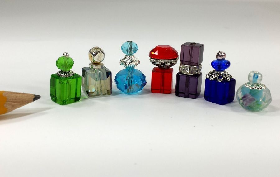 Miniature Dollhouse Perfume Bottles 1:12 1:6 Play Scale Barbie Size for Vanity #miniaturedollhouse