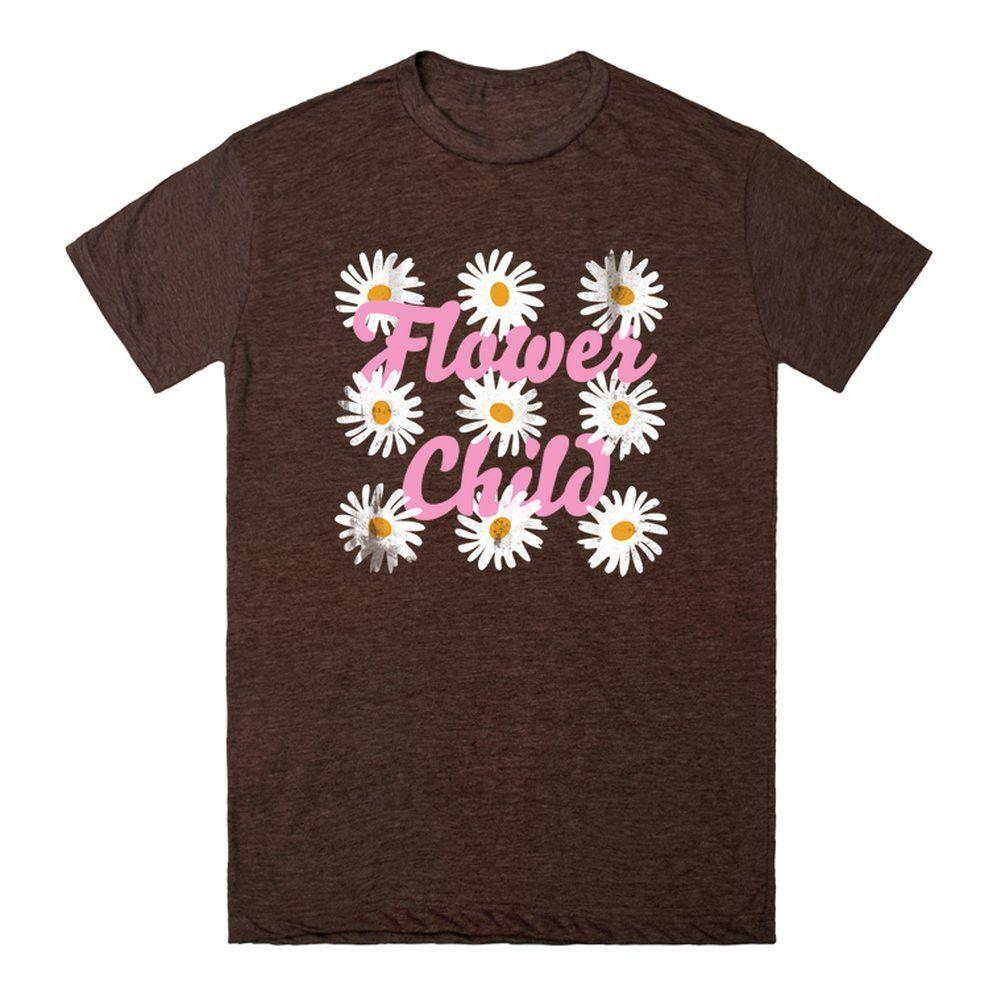 Flower Child-Female Black T-Shirt L