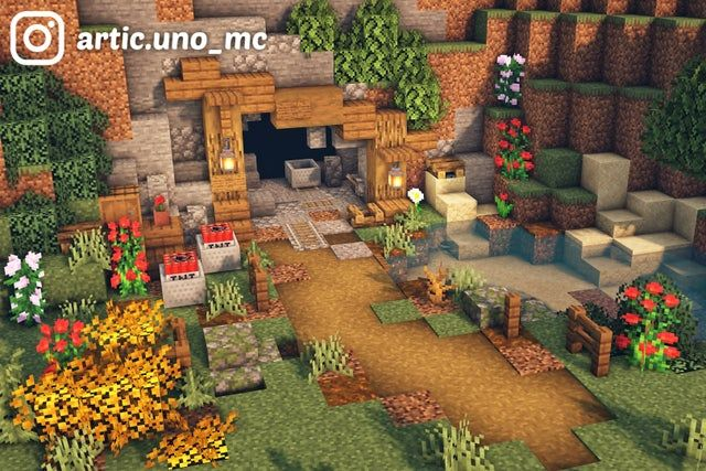 Here's a simple mine entrance for your town! What