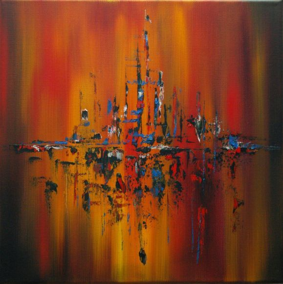Abstract Oil Painting Forest Fire In 2019 Oil Painting