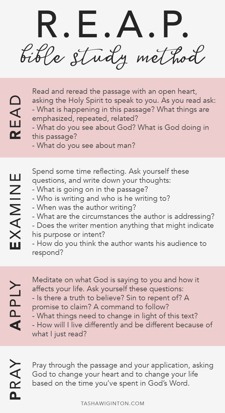 A Quick Guide To The Reap Bible Study Method A Free Printable Bible Study Methods Pinterest Bible Study Methods And Study How to read and study bible for