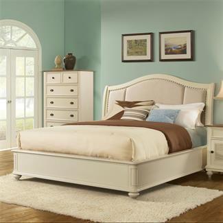 Lovely Coventry Upholstered Sleigh Bed I Riverside Furniture