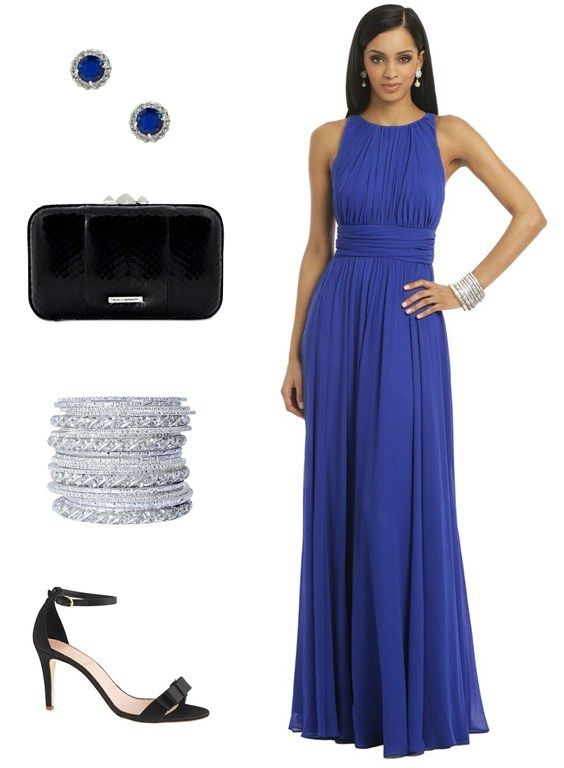 royal blue fall wedding guest dress All Dolled Up Pinterest
