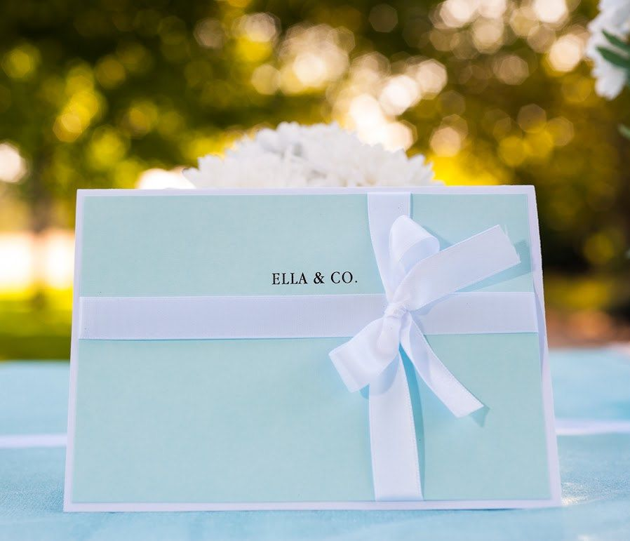 Tiffany Themed Bridal Shower Make a statement by tying the - formal handmade invitation cards
