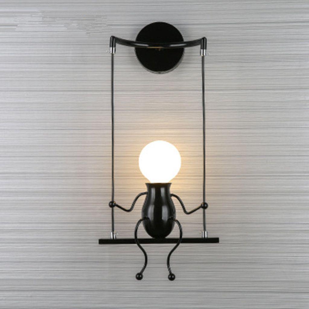Humanoid Creative Wall Light Modern Lamp Simple Sconce Art Decoration Modern Lamp Wall Lights Wall Lamps Bedroom