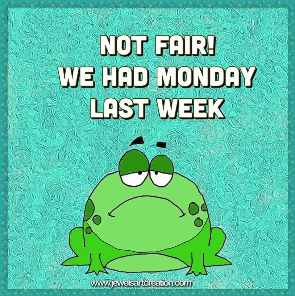 Happy Days Are Here Again Quotes: Frogs, Mondays