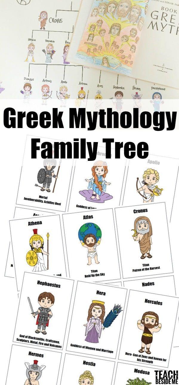 Greek Mythology Family Tree Reading Activities Greek
