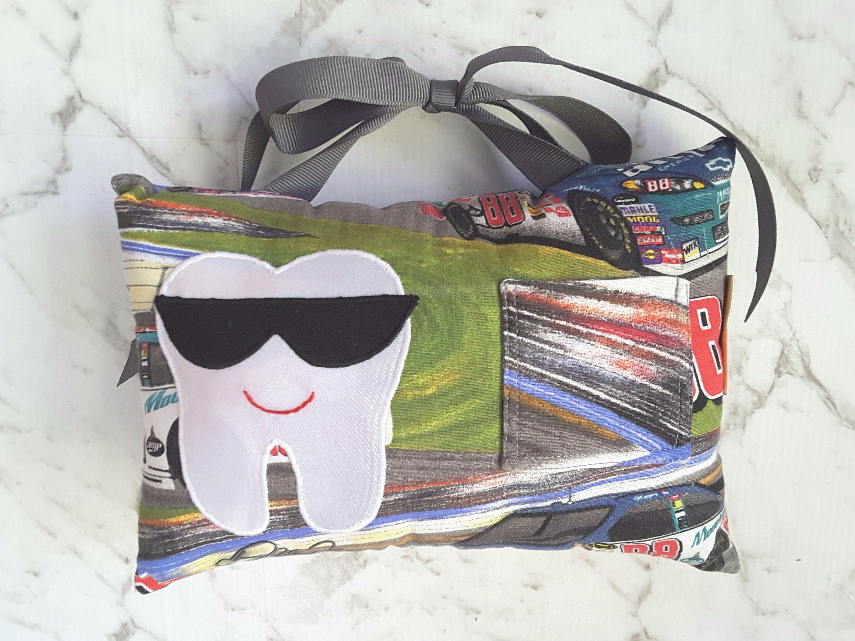 Tooth fairy pillow boy racing race car motor sports supercars