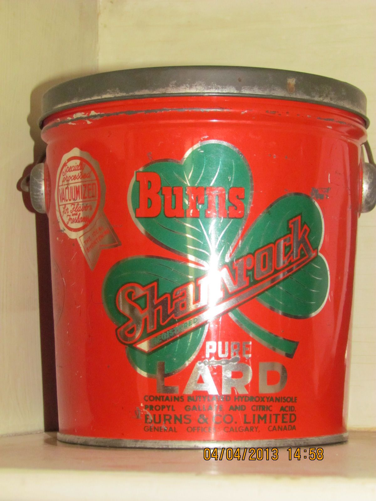 Antique tin burns lard can w lid easter gift to my husband whose antique tin burns lard can w lid easter gift to my husband whose nickname negle Image collections