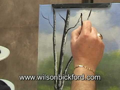 ▶ Oil Painting Lesson - Wilson Bickford - Birch Trees - YouTube