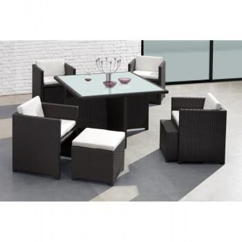 Chairs Slide Up Under Table For Storage And Ottomans Slide Up