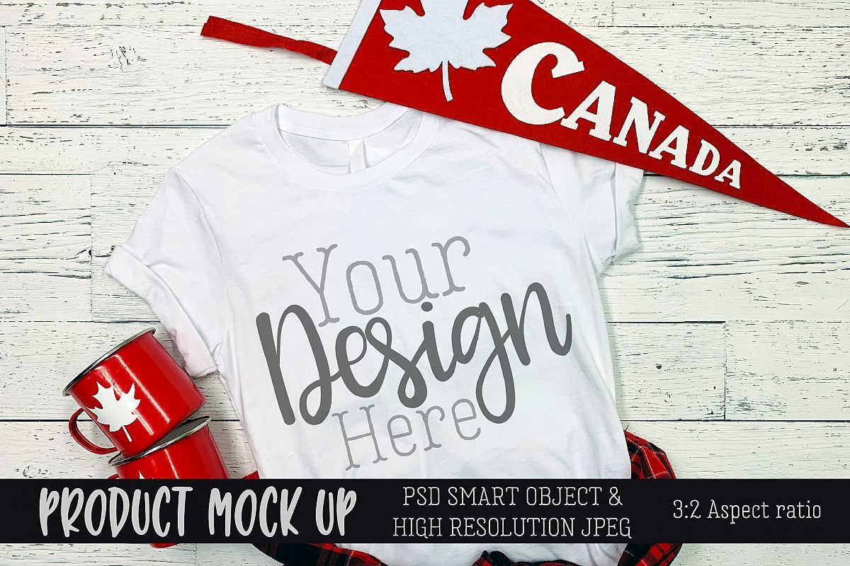 Plus Membership Exclusive Canada Day shirt Craft mock up