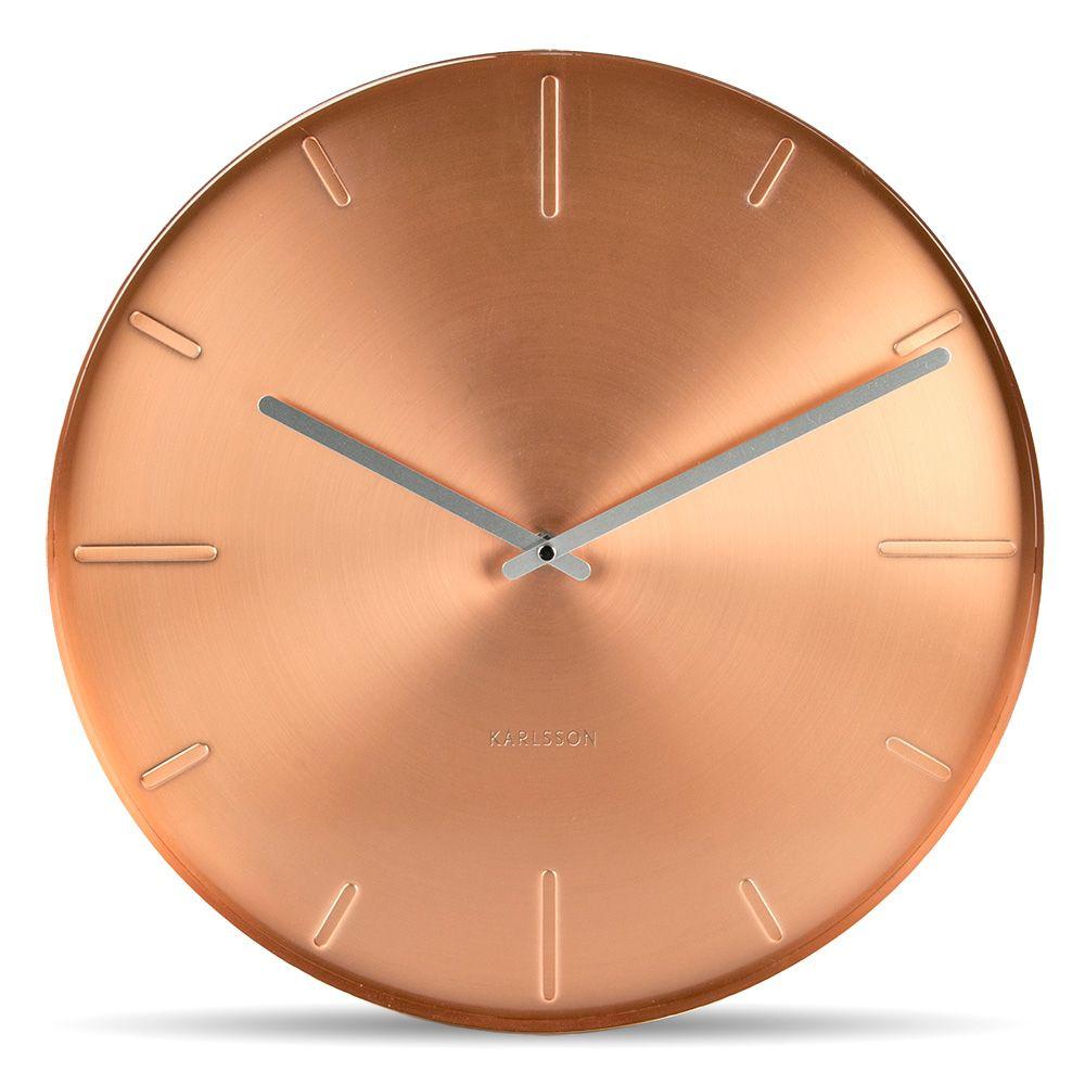Karlsson Uhren kupferfarbene designuhr belt karlsson uhren