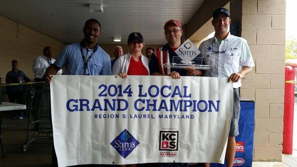 Pork Barrel Bbq Wins Grand Championship At The 2014 Sam S Club Regional Contest In Laurel Md Pork Barrel Barrel Bbq Cooking Competition
