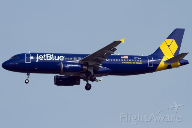 New Special Livery For jetBlue honoring our vets. Hats off