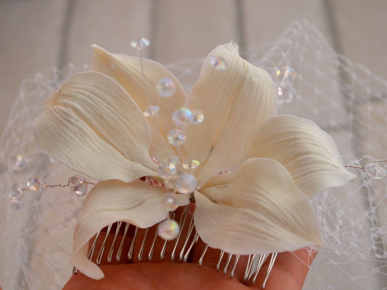 Trendy bridal headpiece - Trendy Wedding Wedding Shop Wedding Hair Wedding Dress Bridal Fascinator Wedding Headpieces Lilies Flowers Birdcage Veils Hair Combs
