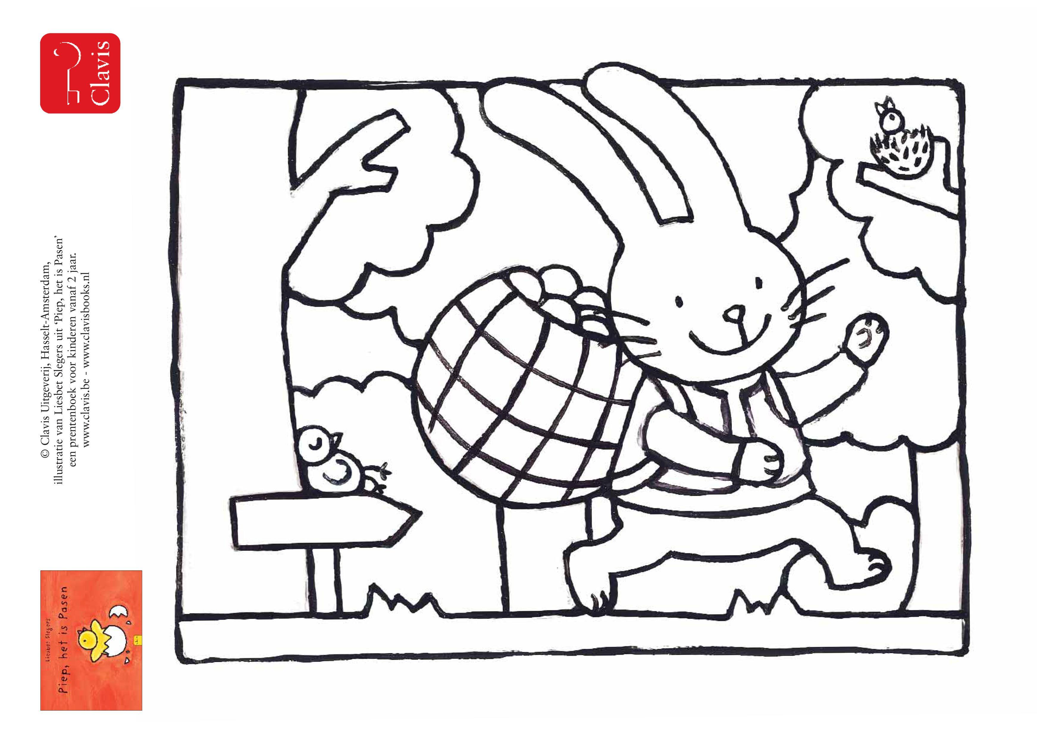 Ver Weg In Het Bos Staat Een Huisje Daar Woont De Paashaas Tussen Het Groen Als Het Na De Lange Winter Bijna Pasen Is Wordt Het Pasen Thema Kleurplaten