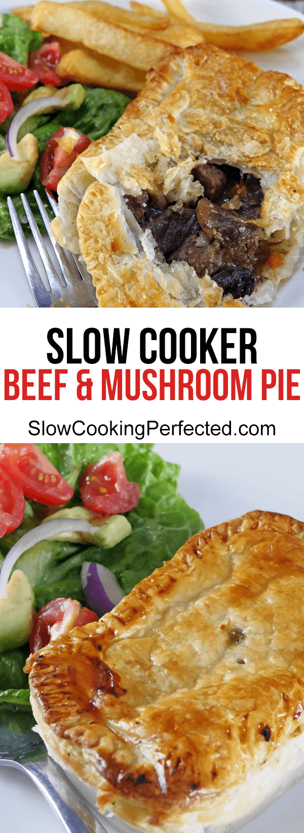 Slow Cooker Beef and Mushroom Pie | Recipe | Beef and ...