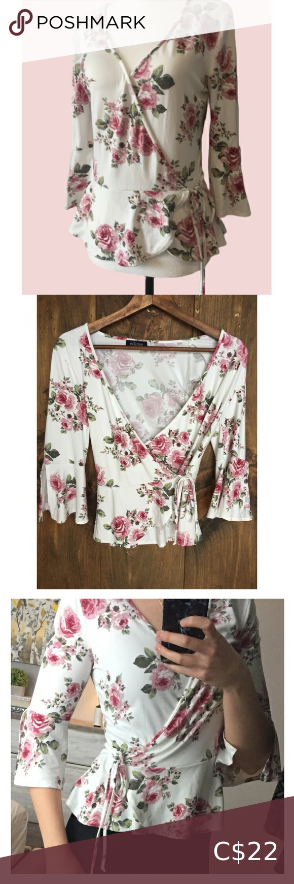 🌸4for$30 Eclipse Floral Blouse