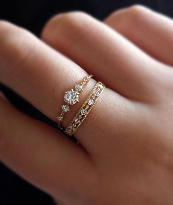 Pin By Shiba On Jewelry Rose Gold Engagement Ring Rings For Her Vintage Engagement Rings
