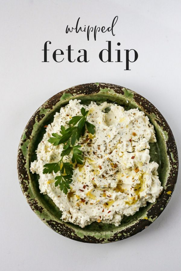 Whipped Feta Cheese Dip | The Domestic Dietitian