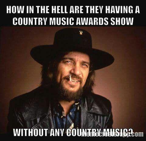 Waylon never cared for award shows..