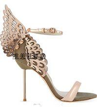 Sophia Webster Butterfly Sandals High Heel Summer Shoes Woman Cut Out High Heels Sexy Women Sandal Sweet Gladiator Sandals Women