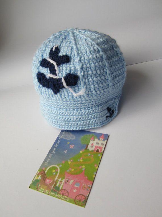 Crochet Baby Boy Hat, Anchor Boy Hat Crochet, Crochet Baby Newsboy ...