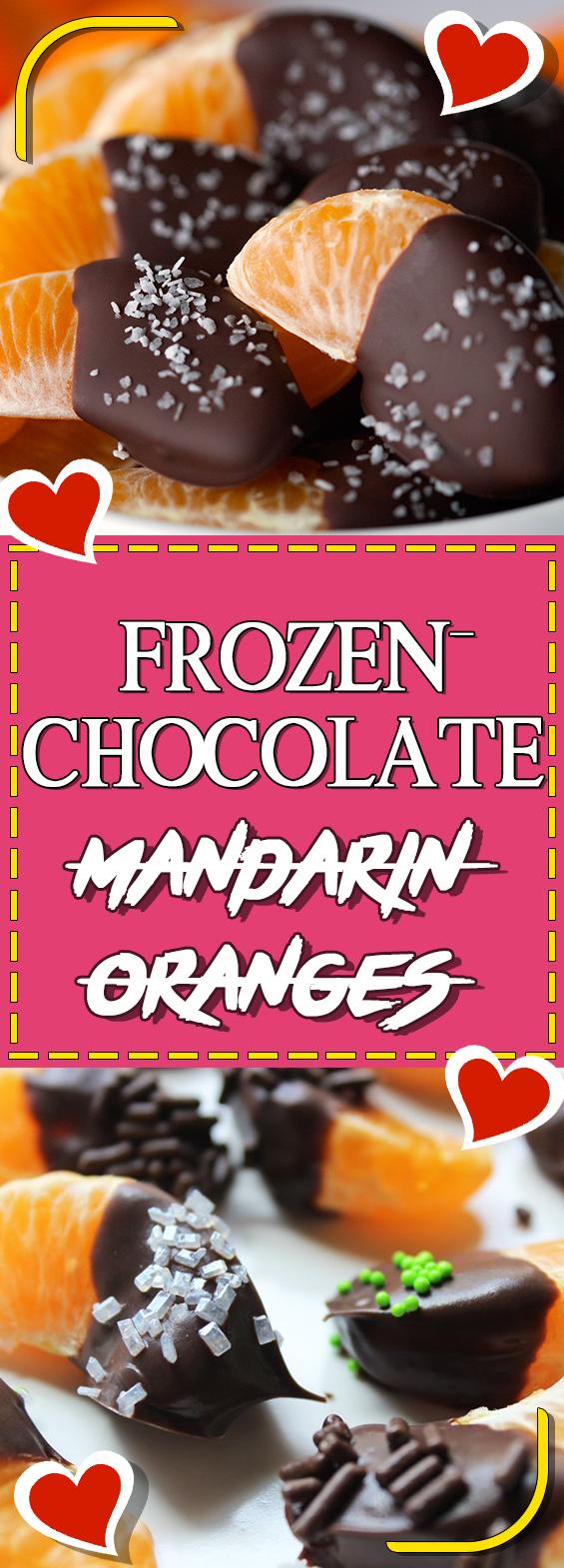 Beautiful FROZEN CHOCOLATE MANDARIN ORANGES #dessert Dessert Ideas #cookinglight  Cooking Light Recipes #sundaysupper Sunday Pictures