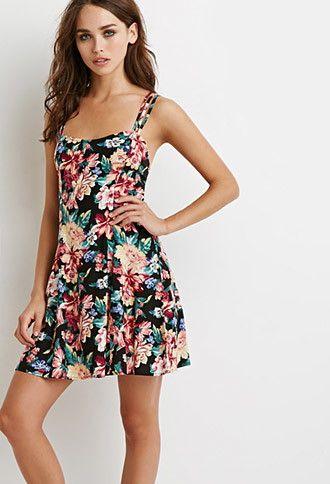 0502198f41b Floral Print Strappy Dress