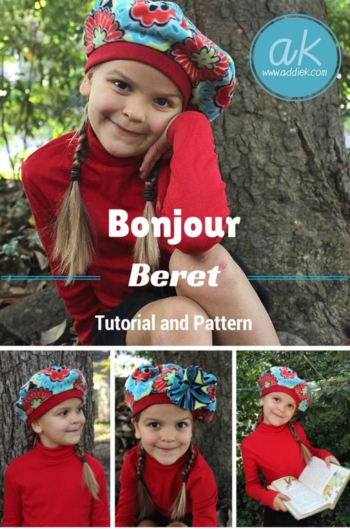 Learn how to sew a fleece beret and add an optional flower. Cute ... 547f8bbb030