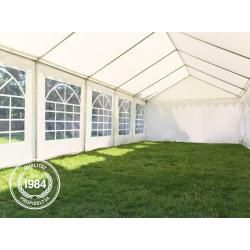 Photo of 4×8 m party tent, PVC tarpaulin 500 g / m², white garden tent, marquee, pavilion Toolport
