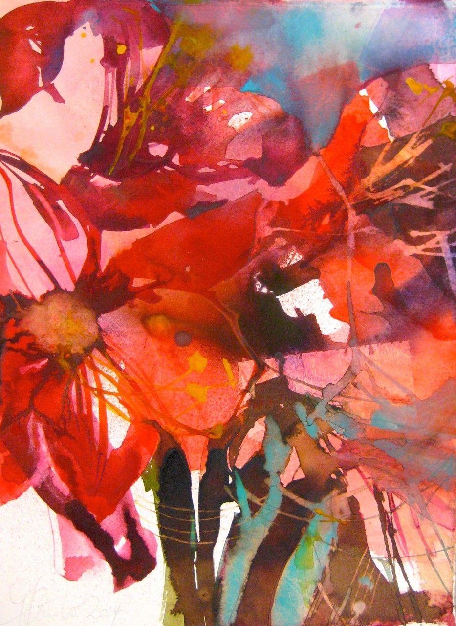 Blumen Elke Memmler Blumen Malen Blumen Aquarell Aquarell Blumen