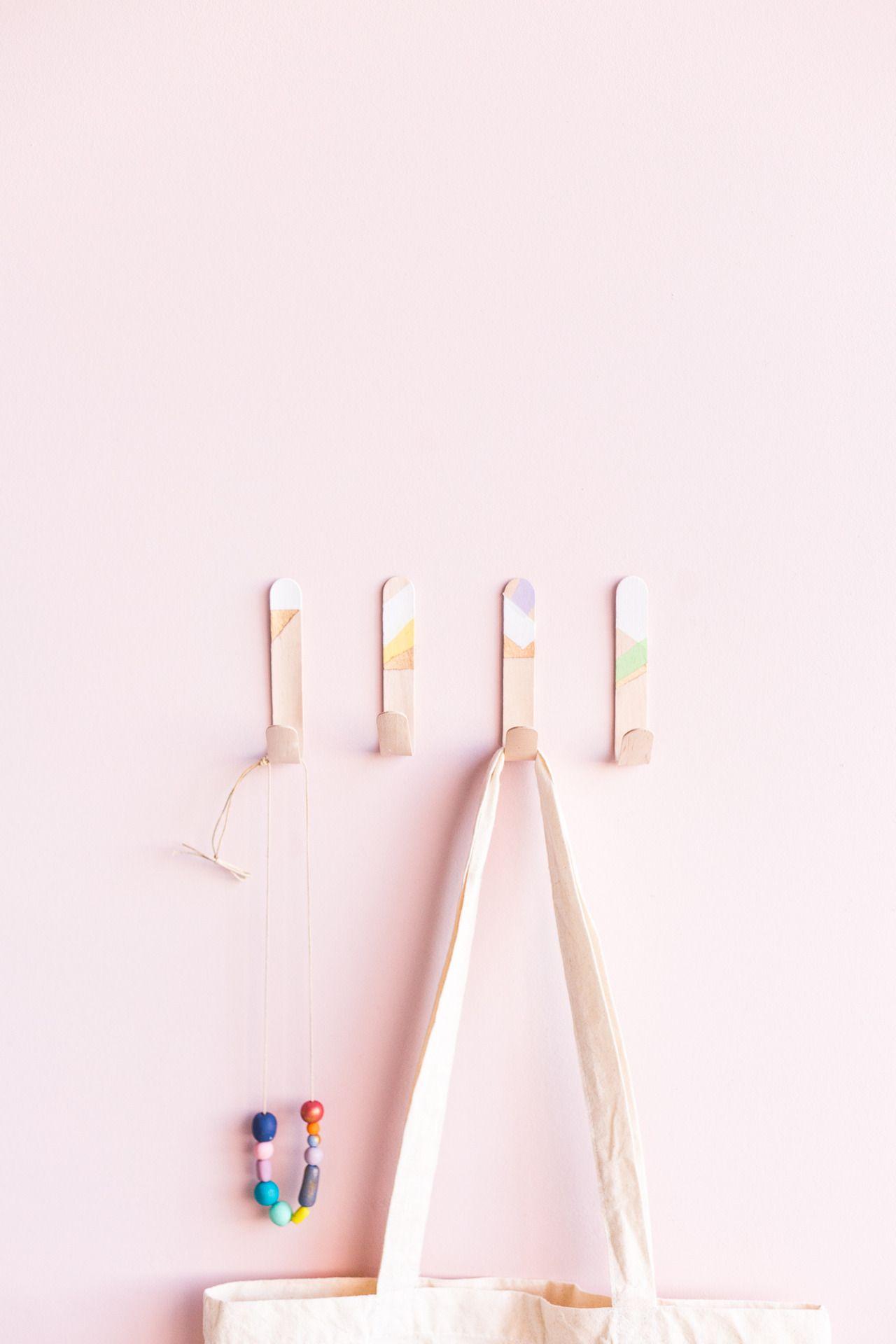 HOME | DIY Lollipop Stick Hooks