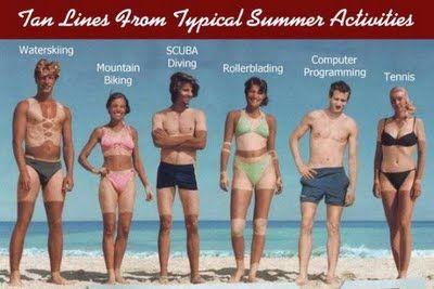 Summertime Tan Lines!