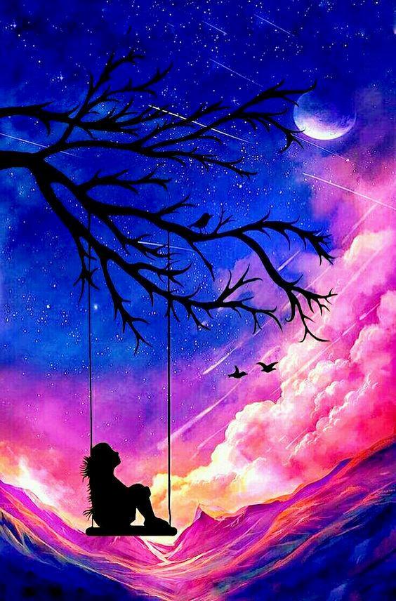 Pin By Hesna Donat On Mobile Phone Dedicated Wallpaper Cute Galaxy Wallpaper Galaxy Painting Beautiful Nature Wallpaper