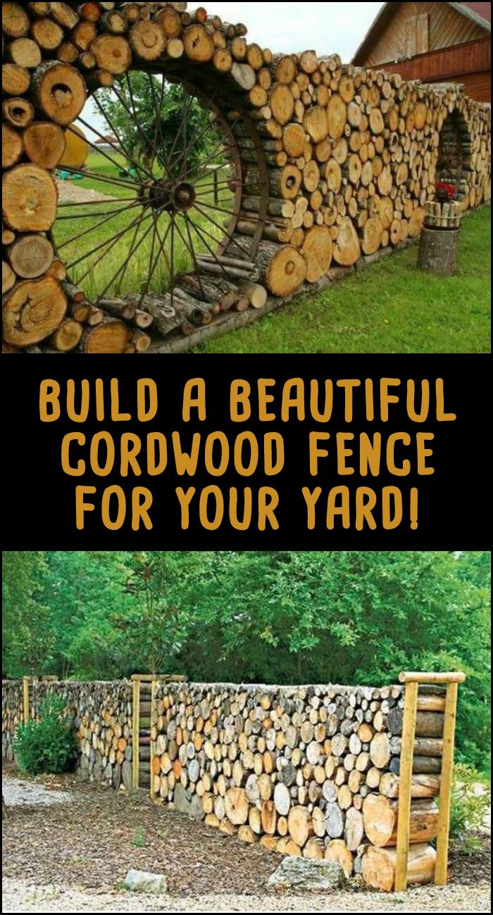 Add privacy to your yard by building a beautiful cordwood fence