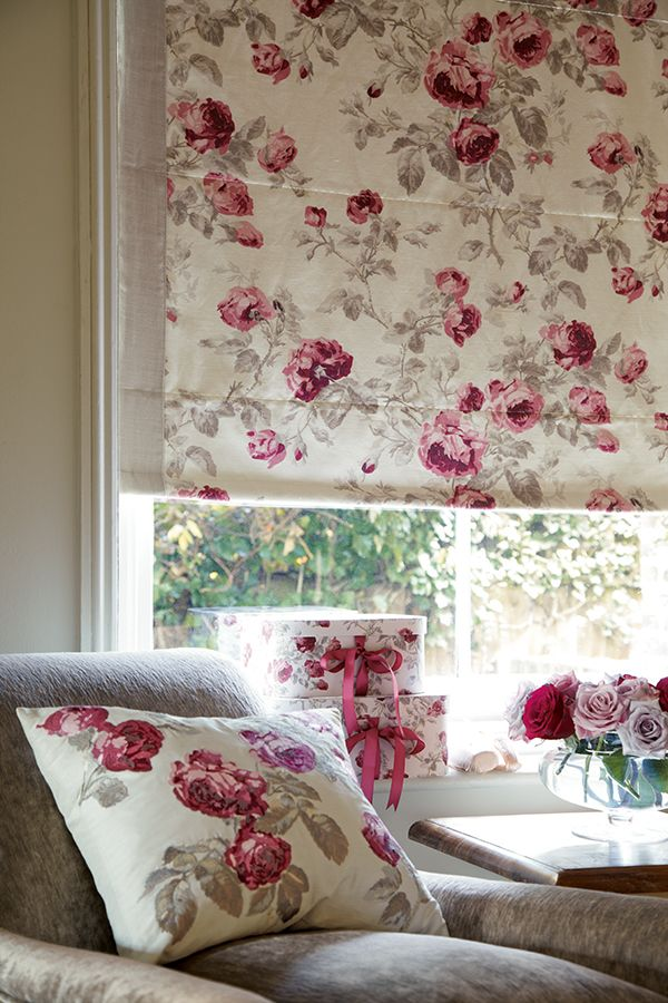 Custom Made Roman Blinds from the Laura Ashley Collection | Romance ...