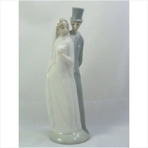 Nao Lladro Bride And Groom Figurine Wedding Cake Topper VGC Retired On EBid United States