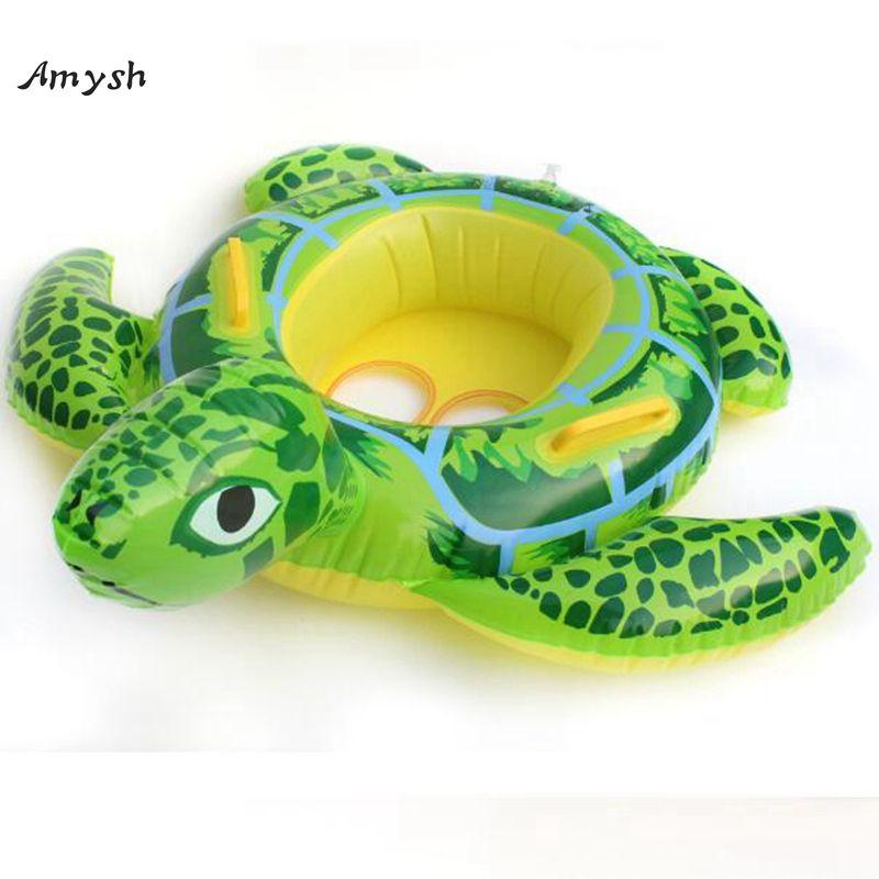 Amysh 90cm Summer tortoise Shaped Kids Inflatable Baby Toddler ...