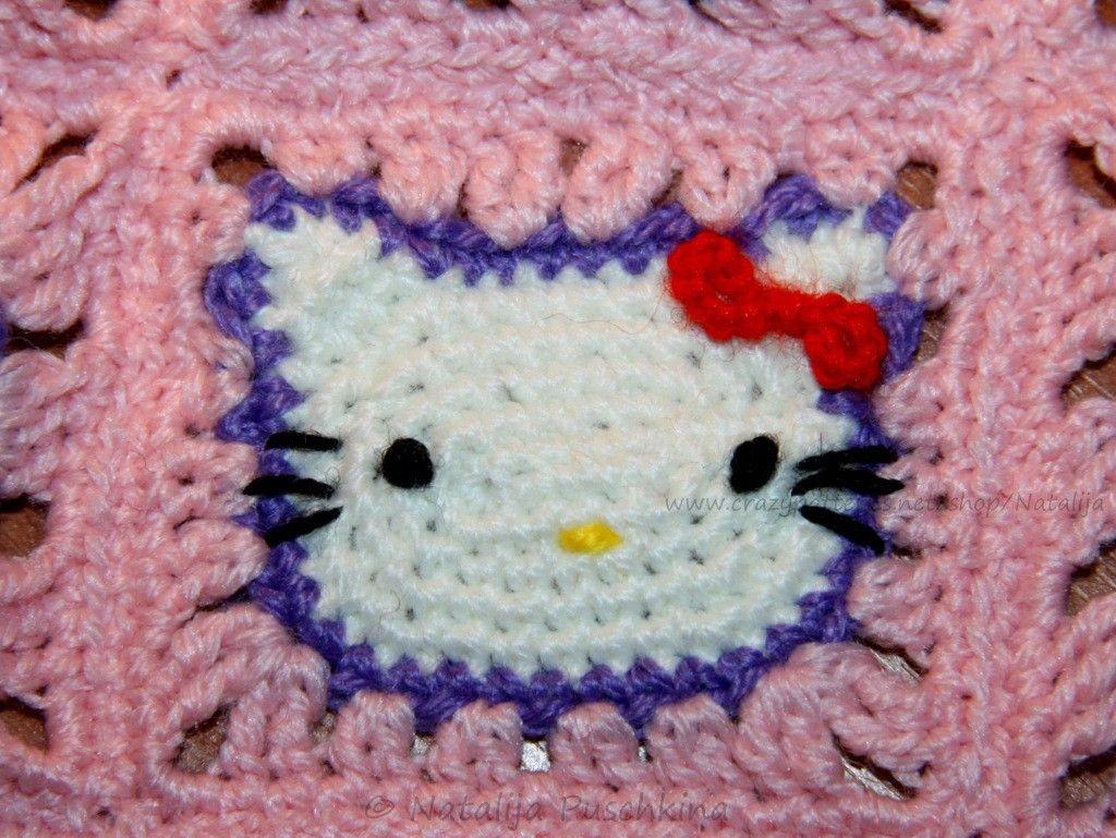 Granny Square \'Hallo Kitty\' - Kostenlose Häkelanleitung | Zukünftige ...