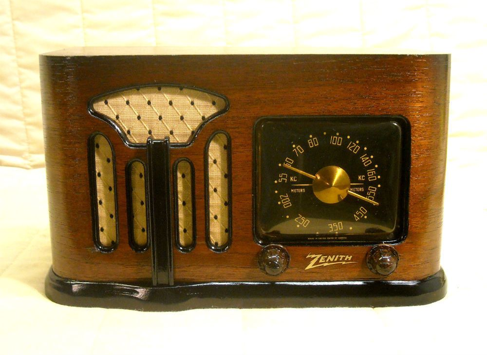 Old Antique Wood Zenith Vintage Tube Radio Restored Working Art Deco Black Dial Antique Radio Vintage Radio How To Antique Wood