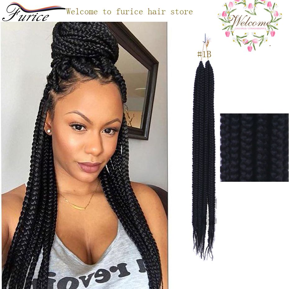Best Hair For Box Crochet Braids 24 Inch Expression Hair Braids