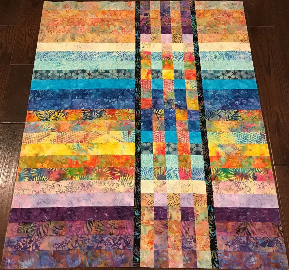 "Quilt Top 40 1/2"" X 48"" Made In NC"