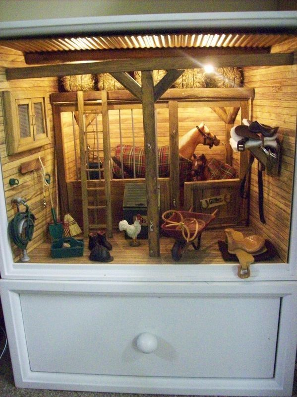 Horse Stable I Love This Looks Like They Used A Dresser