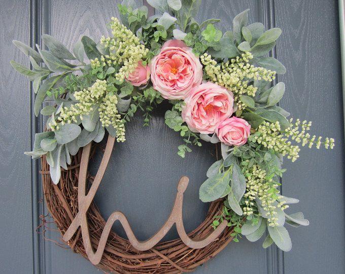Photo of Poinsettia Christmas everyday wreath, Screen door wreath