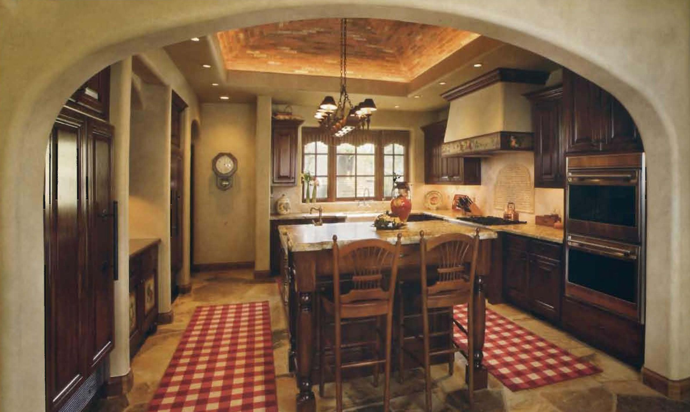 French country kitchen d cor french country kitchens for Black country kitchen