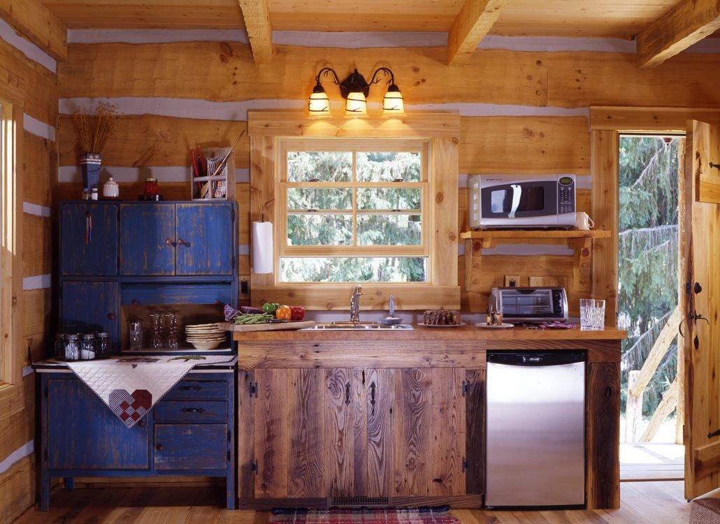 Kitchen Interior 13 Log Cabin Kitchens Small Cabin Interiors