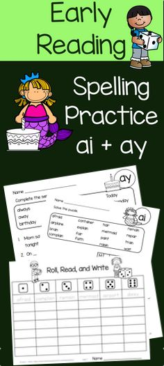 Ai And Ay Practice With One And Two Syllable Words Tpt